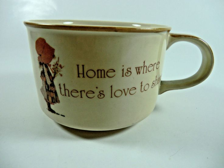 Vintage Holly Hobbie Brown/orange Country Living Earthenware Soup Cup Mug