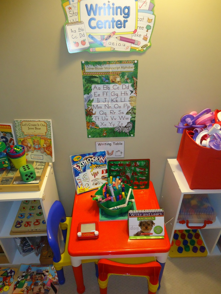 this is my preschool writing center at roses early learners in blue springs mo
