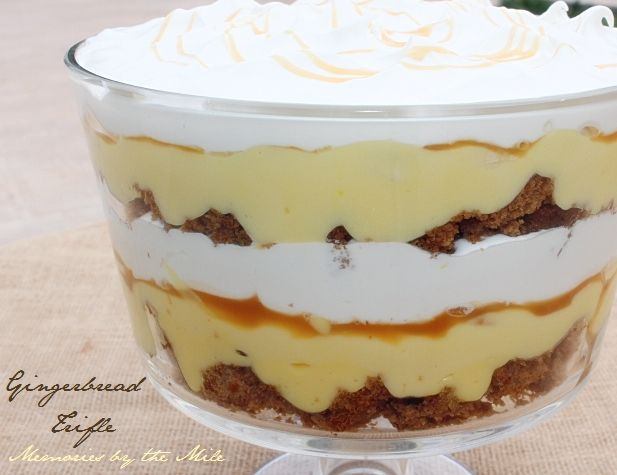 Desserts Dessert Recipes Awesome Gingerbread Trifle Memories