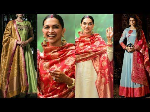 c06fcada6e Latest Trend Of Plain suit with Banarasi dupatta || anarkali with Banarasi  dupatta - YouTube
