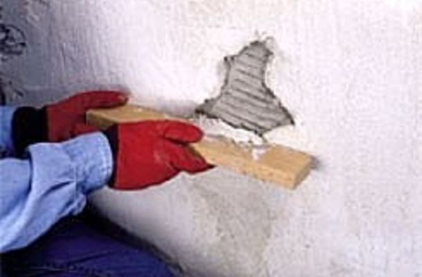 Cracks and holes in stucco should be repaired promplty to avoid water damage.