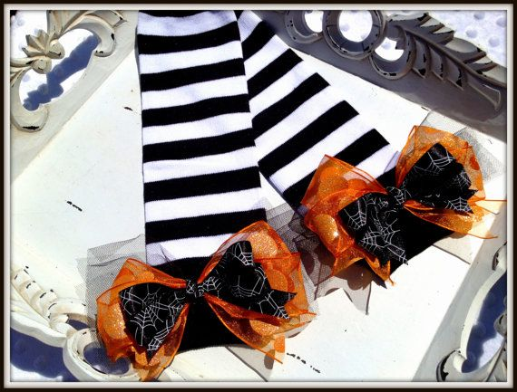 Halloween Witch Pumpkin Baby Leg Warmers Costume by LePetiteBirdie, $9.00