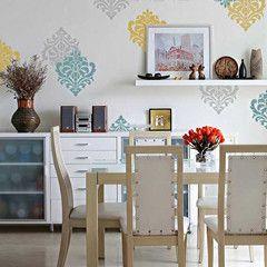 Wall Stencil  Ornamental Flower