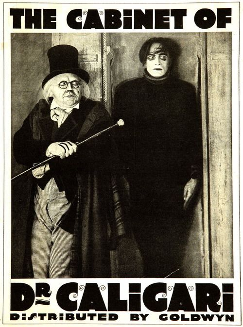 The Cabinet of Dr. Caligari (1920) - Dr. Caligari's somnambulist, Cesare, and his deadly predictions.: