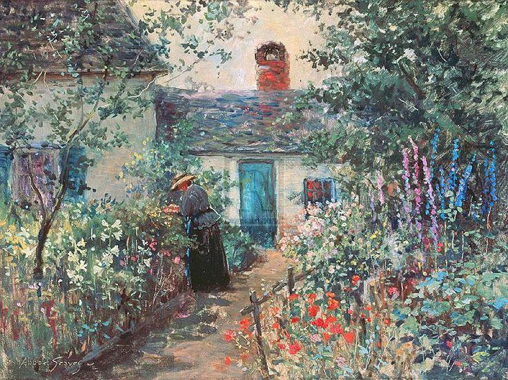 Abbott+Fuller+Graves+-++Flower+garden,+Kennebunkport,+Maine..jpg (787×590)