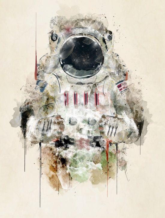 the astronaut Art Print