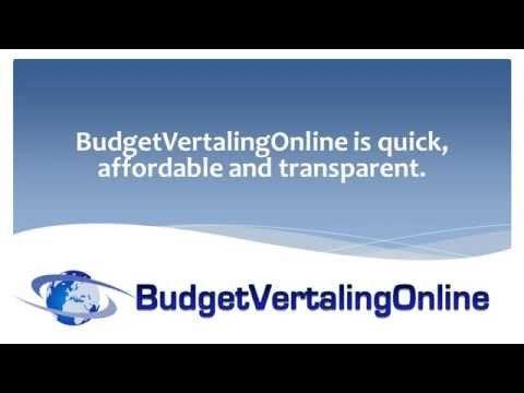 Video BudgetVertalingOnline in English