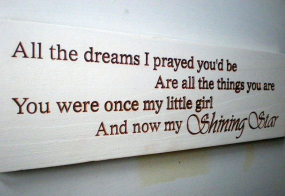Beautiful Daughter Graduation Coming Of Age Wood Sign from Arkwood. Saved to Gifts. #kaceygirl.