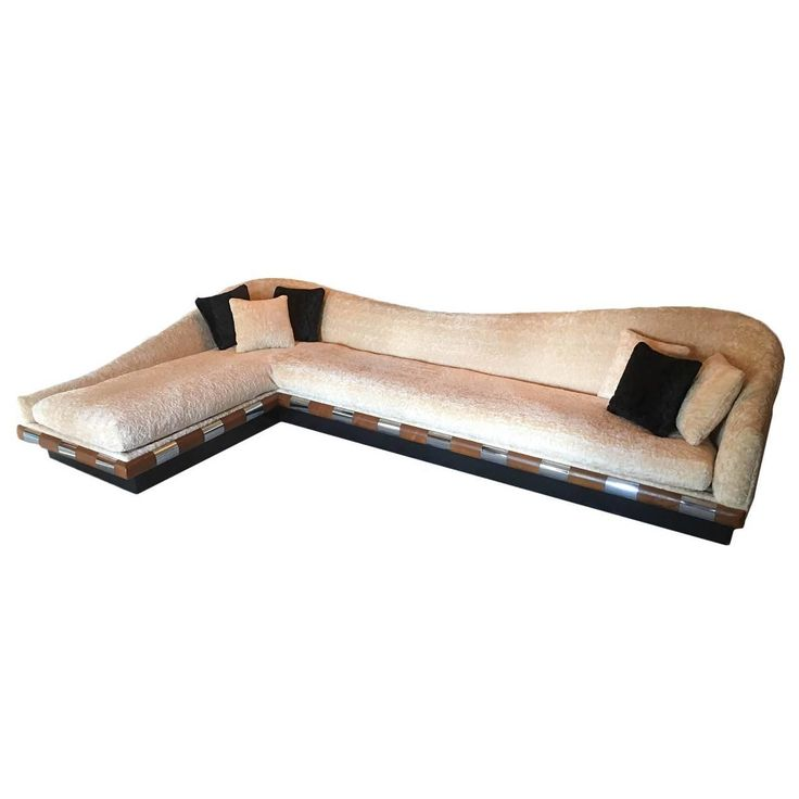 Rare Serpentine Adrian Pearsall L-Shaped Sofa Craft Associates, 1968 | From a unique collection of antique and modern sofas at https://www.1stdibs.com/furniture/seating/sofas/