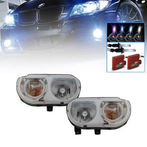 08-14 Dodge Challenger Headlights (Factory Halogen Only) - (Pair) + HID Xenon Lights Kit Package