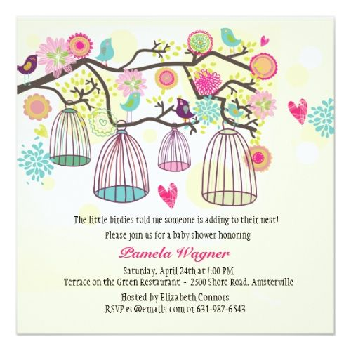 Twins Birthday Party Invitations Feathered Friends Spring Invitation