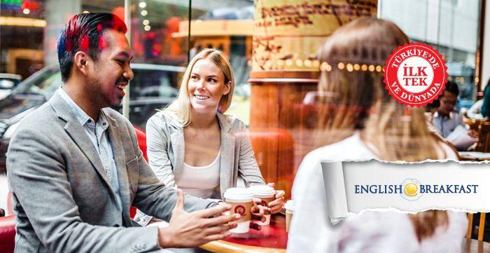 Yoğun iş temposu yüzünden ertelenmiş dil öğrenme çabaları, İngilizceyi akıcı konuşmak isteyenler için engel olmaktan çıkıyor.  İngilizcenizi geliştirmek, daha akıcı konuşmak istiyorsanız, kahvaltıya da öğle yemeği masamızda yerinizi alma vaktiniz gelmişdemektir.   English@Breakfast ödevlerin olmadığı, kendinizi bir öğrenciden çokbir konuk olarak hissedeceğiniz, sizin seçtiğiniz konuların İngilizcekonuşulduğu bir kahvaltı masasıdır.