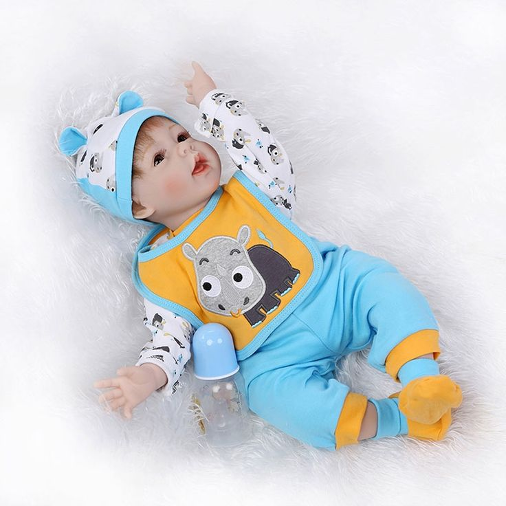 62.24$  Buy here - http://alio6i.shopchina.info/go.php?t=32802993757 - 55cm BeBe Reborn 22inch Soft Silicone Reborn Doll Toys Lifelike Realistic Cotton Body Playmate Bonecas For Kids Chirstmas Gift 62.24$ #SHOPPING
