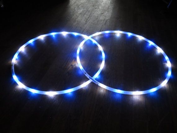 Blue & Cool White LED Hoop Up to 28 LEDs by MoonsOfNoor on Etsy
