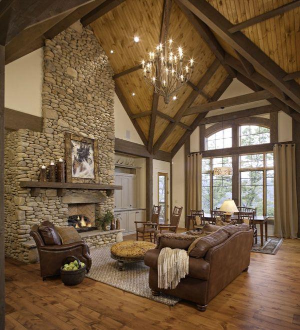 sch nes wohnzimmer rustikal gestalten traumhaus pinterest. Black Bedroom Furniture Sets. Home Design Ideas