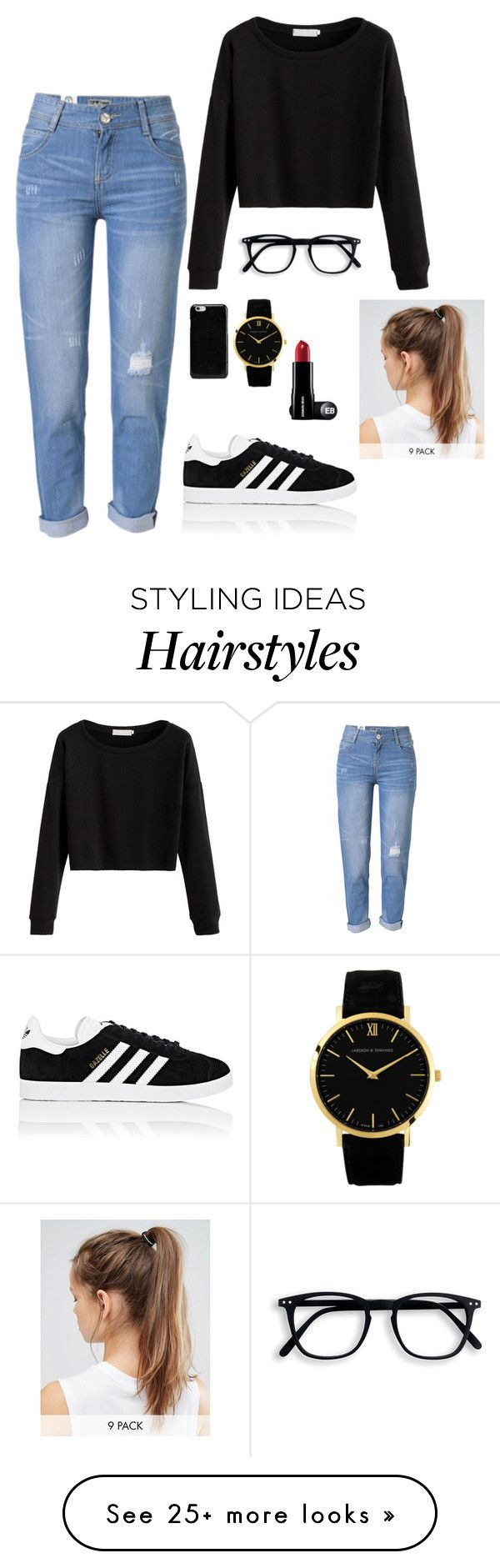 """Mariana"" by briquel13287 on Polyvore featuring WithChic, adidas, Maison Margiela and NIKE"