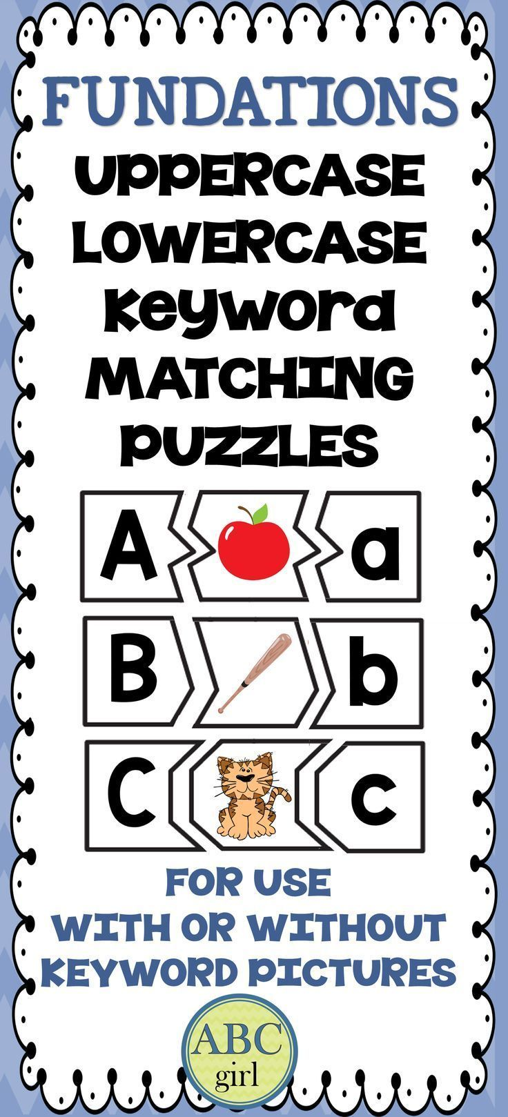 matching upper and lowercase letters pdf