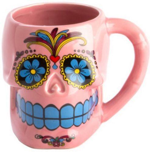 Homewares - Candy Skull Mug Pink - Buy Online Australia Beserk