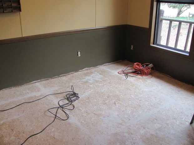 Painted Floor On Particleboard Particle Board Floor Diy