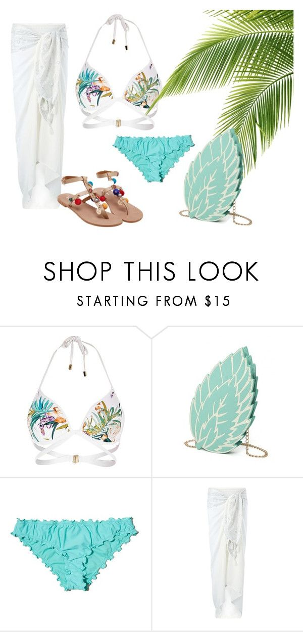 Beach time! by patsilvarte-blog on Polyvore featuring Monsoon, River Island and Hollister Co.  #outfit #beach #sunset #swimwear #bikini