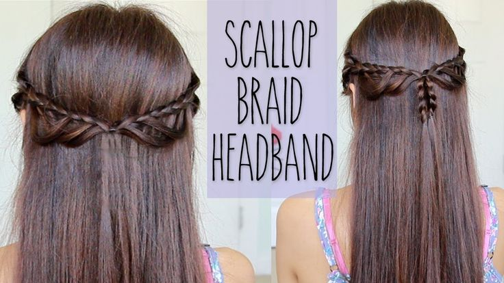 Scallop Braid Headband | Hairstyle for Medium Long Hair Tutorial