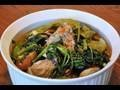 Sinigang na Buto-buto with Gabi Recipe is a vaiation of the traditional sinigang. Pork neck bones are cooked with taro. The taro makes the soup thicker. Try this recipe today.