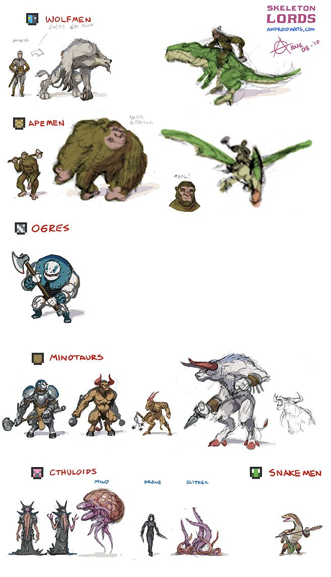 Beastly humanoids.