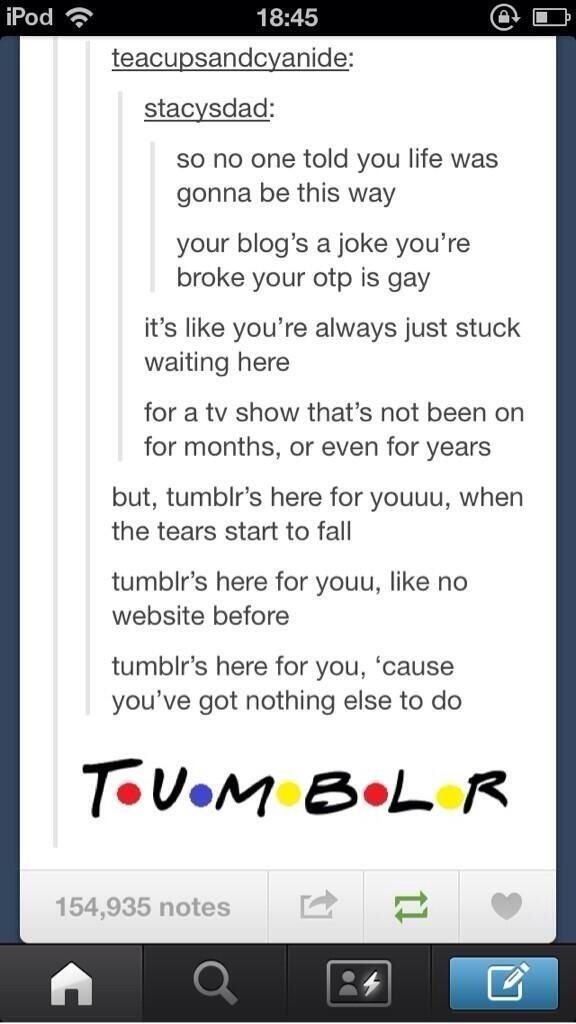Tumblr meets Friends aka best tumblr post ever