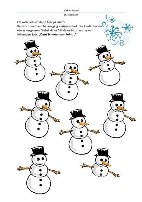 schneemann vervollständigen  vorschule winter schneemann