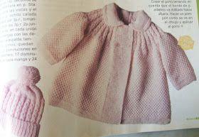 TEJIENDO A DOS AGUJAS: Tapado tejido para bebe