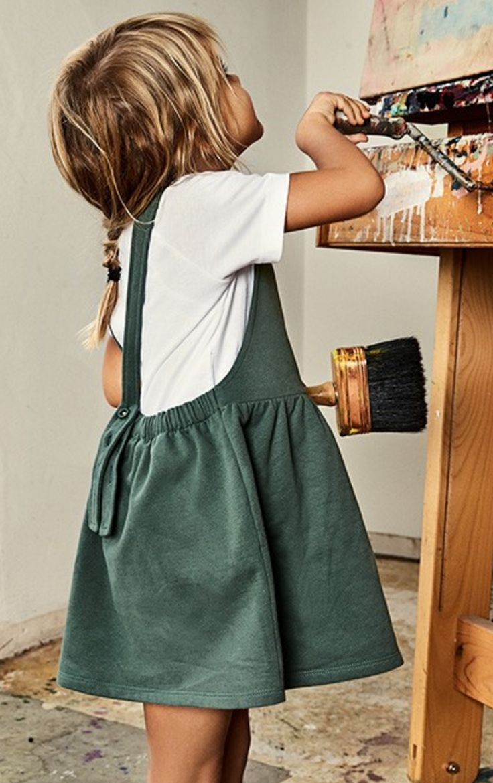 Organic Cotton Pinafore Dress | Gray Label