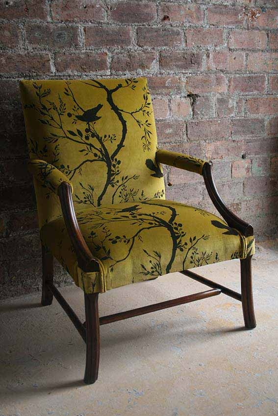 Birdbranch Stripe Velvet Chair - sold