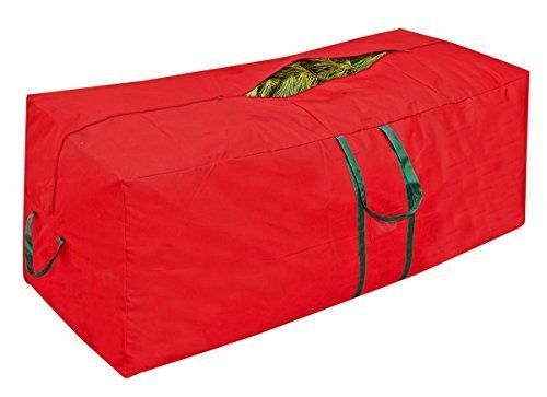 Simplify 9 Foot Christmas Tree Storage Bag With Wheeled Base,Heavy Duty 600 Red #NotApplicable