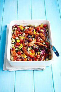 <center>Packed with sizzling sausages as well as lots of good stuff, this dinner is the perfect way to sneak in some veg without any complaints.