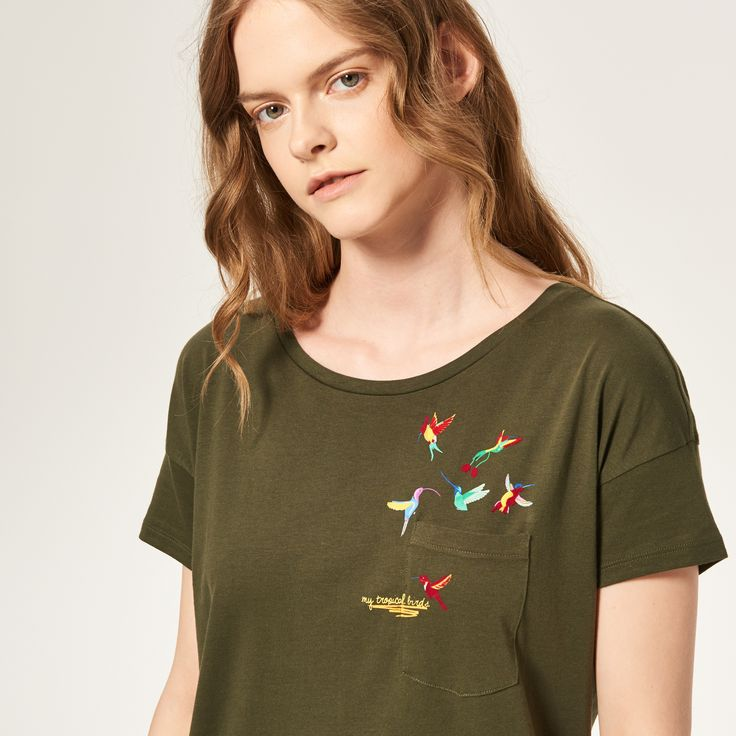Koszulka z kieszonką, RESERVED, RD716-87X