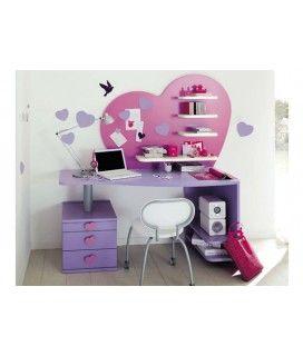 Παιδικό γραφείο με παράσταση καρδιάς