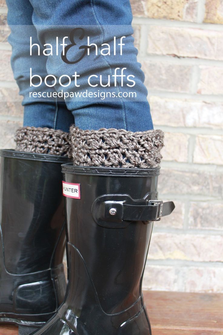 94 best crochet footwear boot cuffs images on pinterest half half boot cuffs free crochet pattern bankloansurffo Choice Image