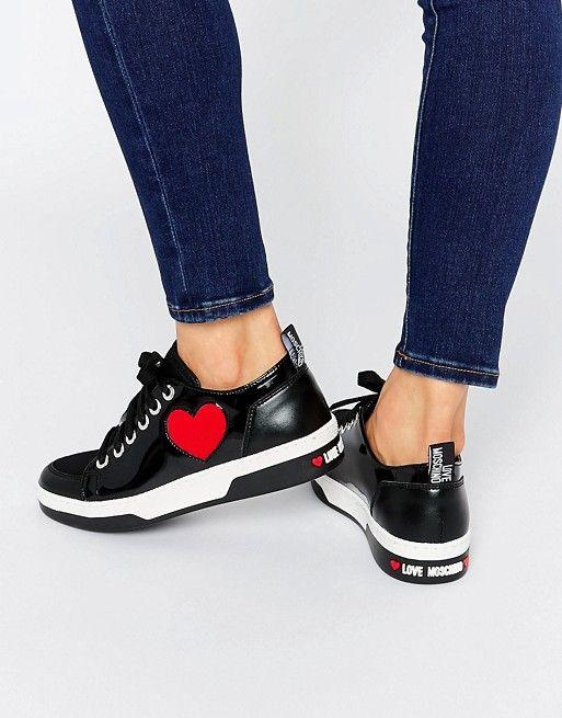 Love Moschino Black Heart Patent