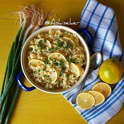 LİMONLU PİLAV  tarifi kolay lezzetli pratik denenmiş yemek tarifleri lemon rice