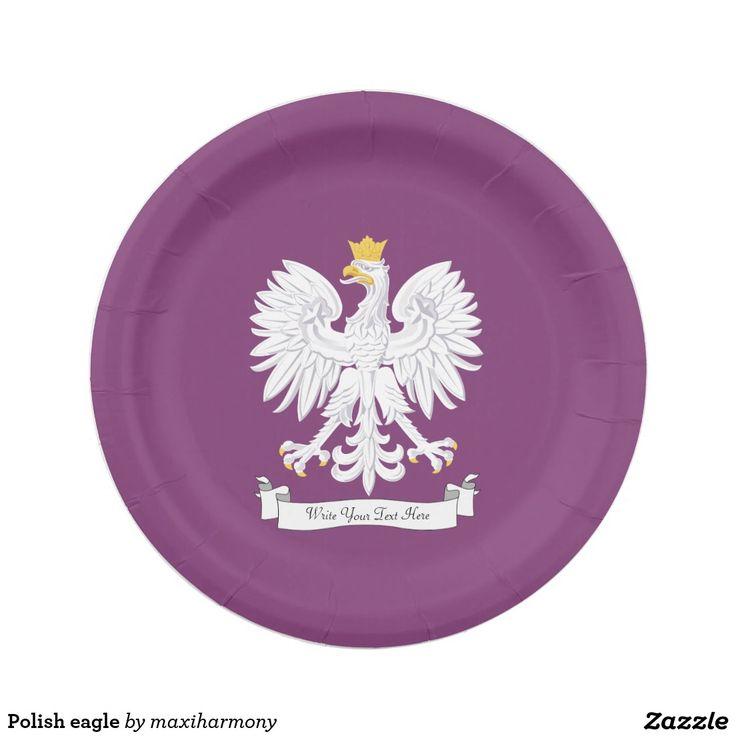 Polish eagle 7 inch paper plate