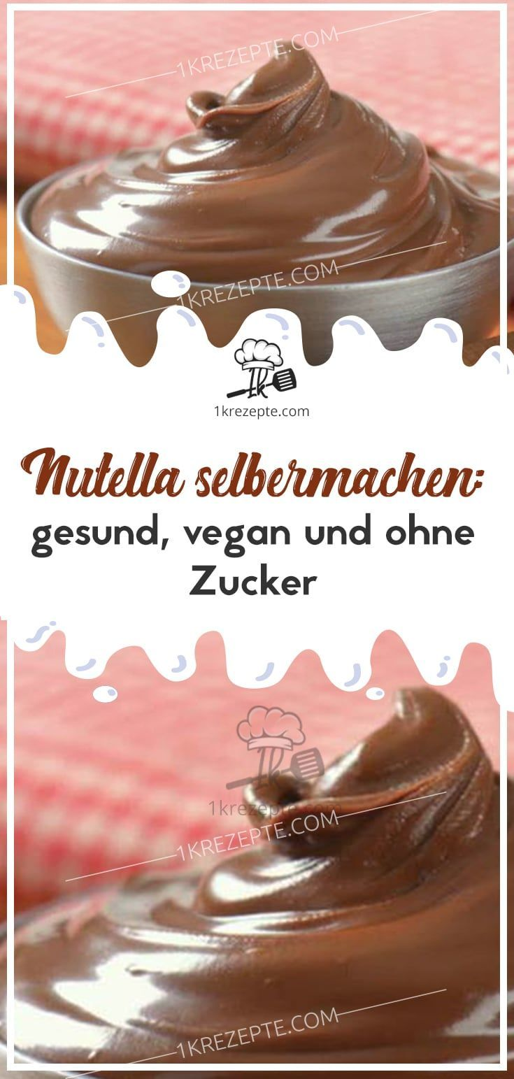 Make Nutella yourself: healthy, vegan and without sugar