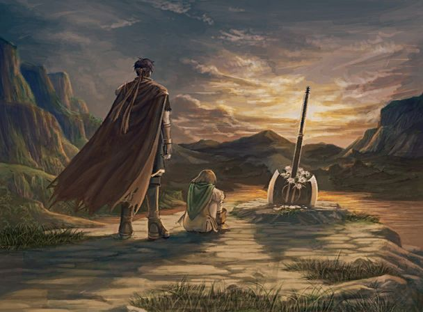 Fire Emblem: Path of Radiance - Ike and Mist at Greil's grave. This part is so sad