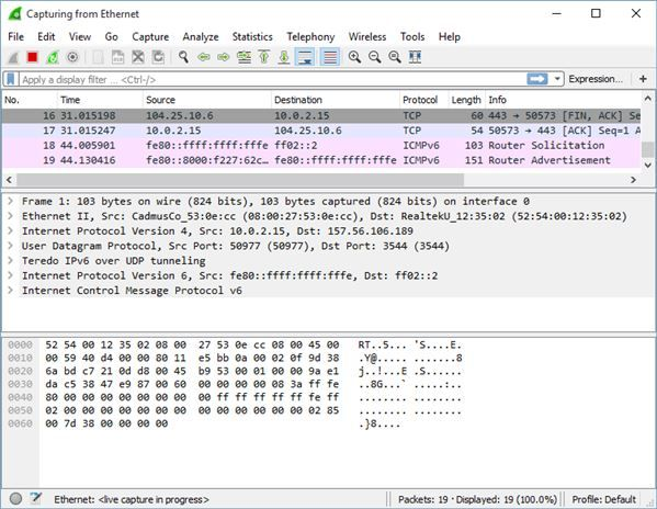 network packet sniffer software windows 10 1