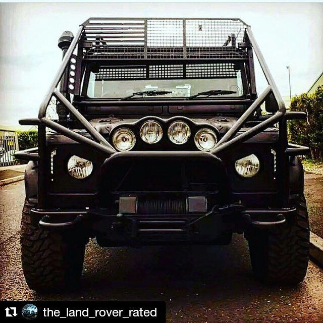 Winch Bumper With Led Lights By Rovers North For Discovery: Cars, Mad Max And