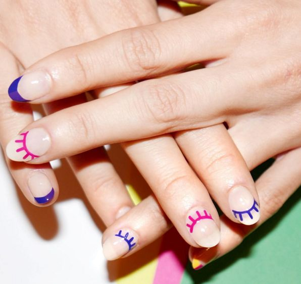 This funky nail art might be different than what you typically go for, but the negative space and simple design make it a totally modern, adult way to wear fun colors. See more on Alicia Torello's Instagram »