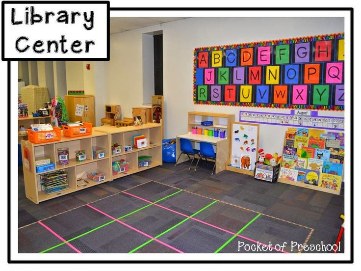 Classroom Reveal!  The library center in a preschool classroom!  Pocket of Preschool