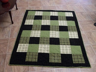 Simple flannel quilt