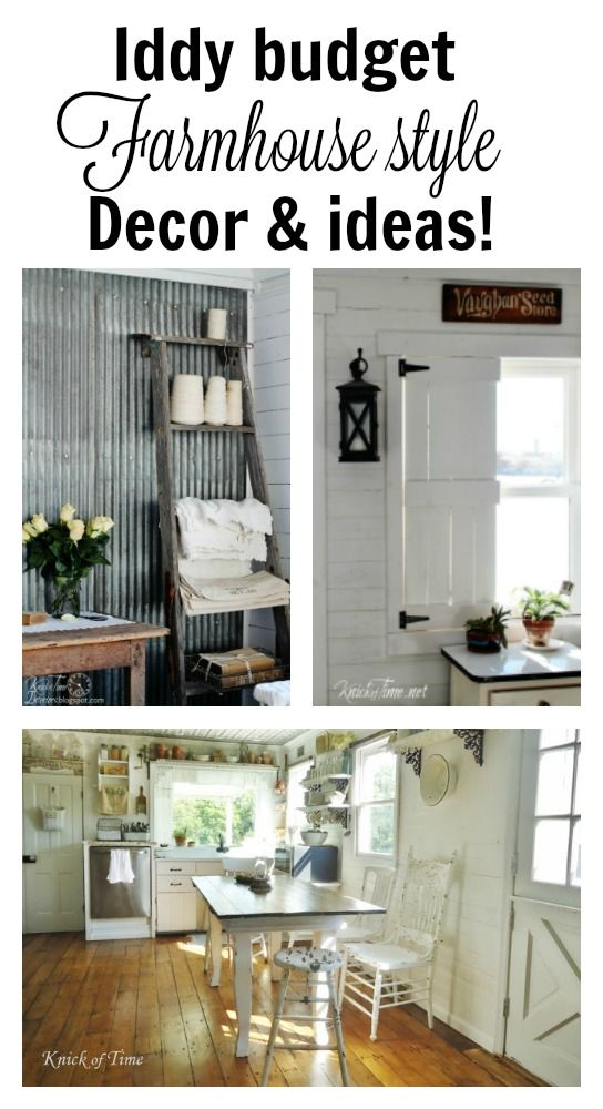 How to decorate farmhouse style on a an iddy budget. Angie from @knickoftime shows you the way!