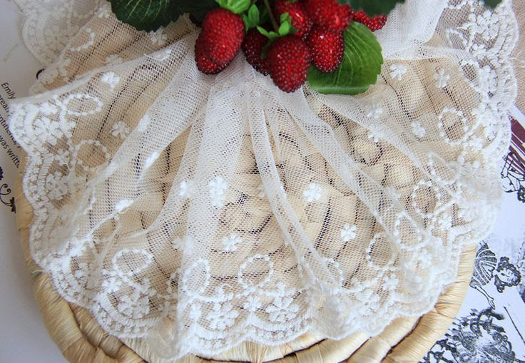 LT147 Free Shipping 7Y/Lot, 10CM Wide, 2013 New Popular Handmade DIY Cotton Flowers Embroidery Lace Trimmings $11.80