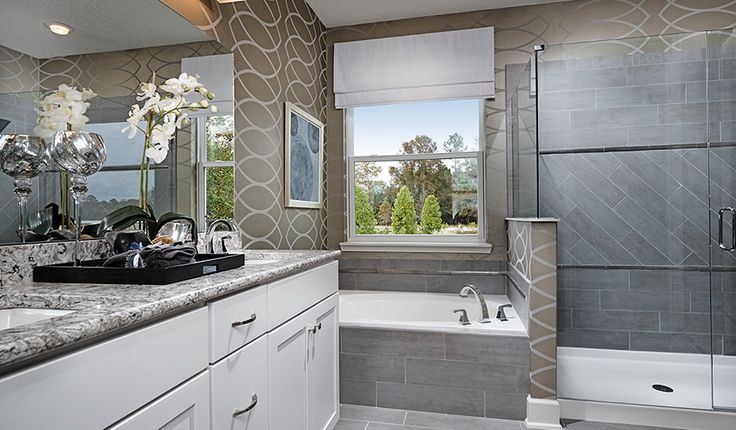 44 Best Ideas About Bathrooms We Love On Pinterest Soaking Tubs In Las Vegas And Gold Wallpaper